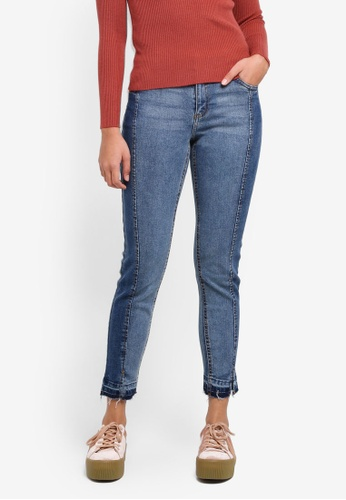 Cotton On blue Mid Rise Grazer Skinny Jeans 14FB5AAC5CF057GS_1