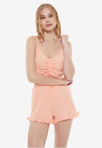 Trendyol 橘色 針織睡衣組 E3C5DAA4A204CFGS_1