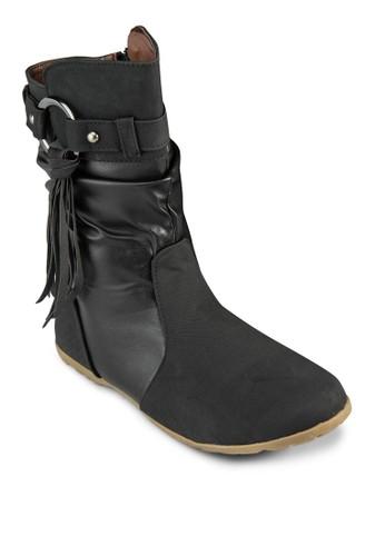 Nina 扣環流蘇中esprit地址筒靴, 女鞋, 鞋