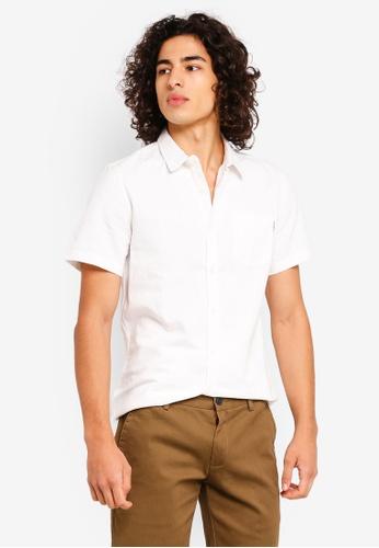 High Cultured 白色 Short Sleeve Shirt - 65 D1551AADEDAE77GS_1