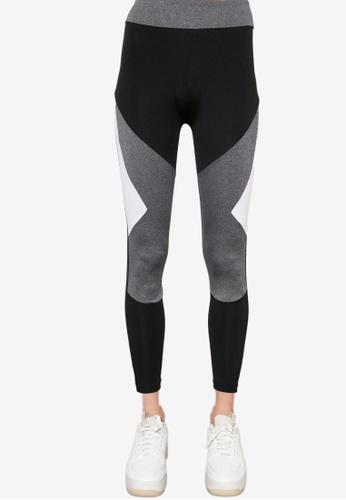 Trendyol black Colorblock Sports Leggings 44C2CAA63F7047GS_1