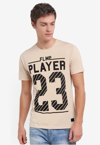 Flesh IMP brown Player 23 Graphic T-Shirt FL064AA74SANMY_1