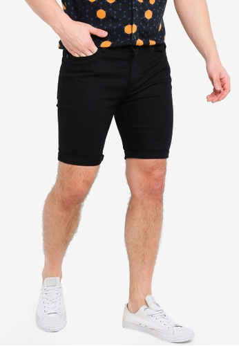 Topman 黑色 緊身丹寧短褲 0B03AAAC44C5EAGS_1