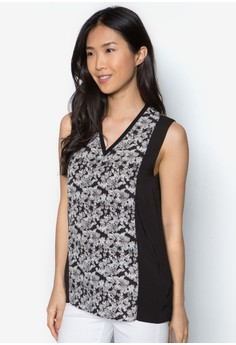 Collectionpanelled V-Neck Top