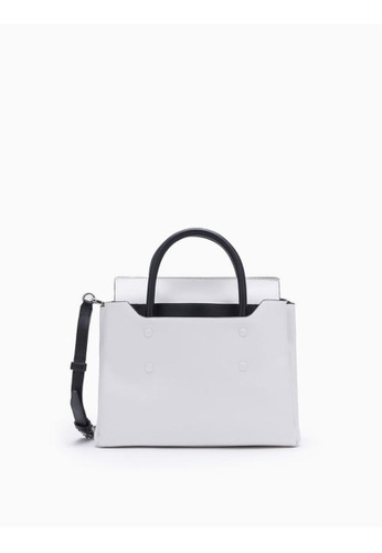 Calvin Klein white Folded Small Carryall 3BED9ACA4E474FGS_1