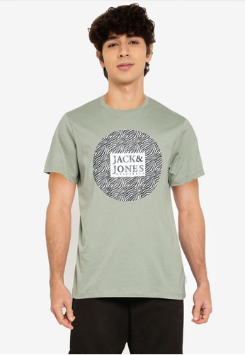 Jack & Jones green Safari Tee ADF2EAA5E8DF3DGS_1