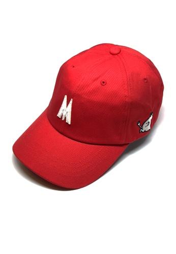 M-Wanted red M.Moomin Runs! Baseball Cap C843CAC72CB68DGS_1