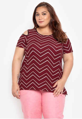 8d0c04907f6fc4 Shop Divina Plus Size Cold Shoulder Blouse Online on ZALORA Philippines