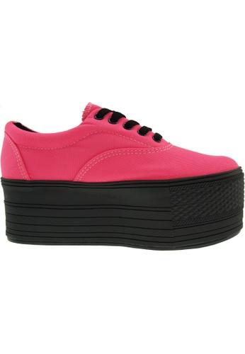 Maxstar pink Maxstar Women's C60 5 Holes Platform Canvas Low Top Sneakers US Women Size MA164SH14PPXSG_1