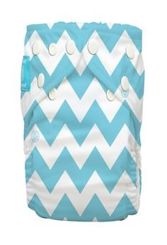 Blue Chevron 2-in-1 cloth baby diaper
