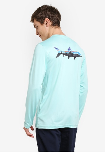 Patagonia blue Graphic Tech Fish Tee PA549AA0RQBPMY_1
