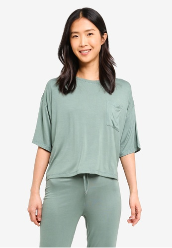 Cotton On Body green Sleep Recovery Boxy T-Shirt 04A69AA225C662GS_1