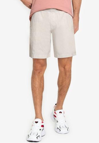 Abercrombie & Fitch beige Pull On Shorts 0377FAA3F5DA9EGS_1