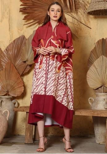 Rinjanie Avon red Rinjanie Avon - Dress Dra Dominant Red - Batik Merah - Batik Imlek E90F2AAB23D3C3GS_1