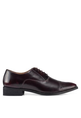 Carlton London brown Lace Up Dress Shoes 6AC9ASH38D524FGS_1