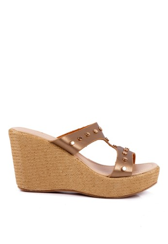 CLARETTE gold Clarette Wedges Sargina Gold CL076SH21QLAID_1