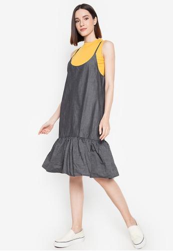 Chictees grey Katrina Jumper Dress AE6E5AA9F65C5BGS_1