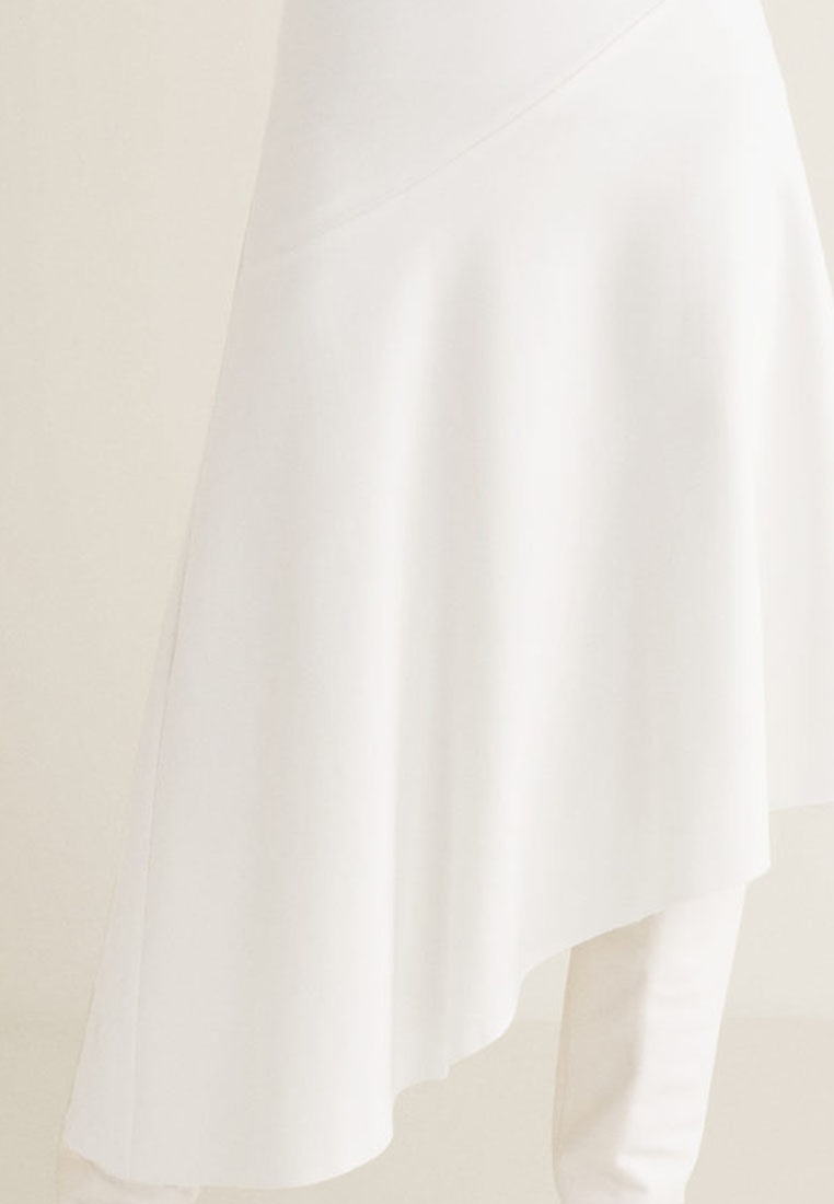 1174748fc5 Mango White Fluted Hem Skirt Natural wwa4XOpq-klausecares.com