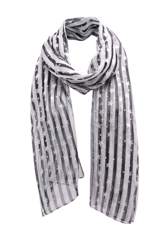 OVS multi Stripes And Stars Scarf 05019ACEE3D503GS_1