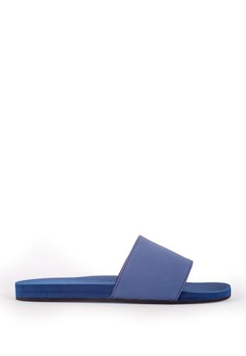 Indosole blue Indosole Women's ESSNTLS Slides - Shore E063FSH81B0810GS_1