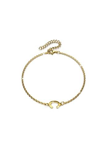 Bullion Gold gold BULLION GOLD Bold Alphabet Letter Initial Charm Bracelet in Gold Tone - C 55CEBACE19145BGS_1