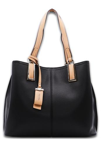 POLO HILL black POLO HILL Massy Ladies Shoulder Tote Bag 4F439AC5FDE7A9GS_1