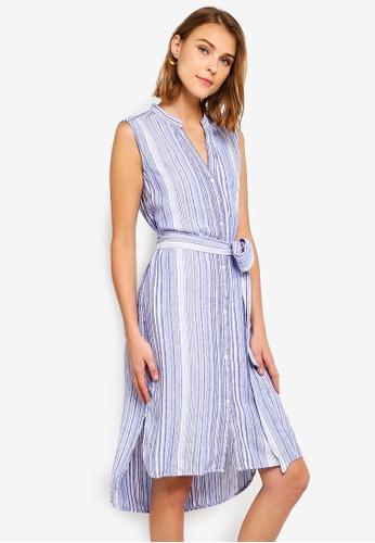 e4206e9b816 Sleeveless Linen Shirt Dress