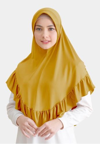 zelena yellow Khimar Instan kerudung Jersey Syari Jilbab Jumbo Diamond - Honey Gold 2290DAA51131A7GS_1