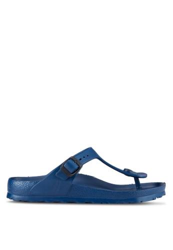 Birkenstock navy Gizeh EVA Sandals BI090SH00JPFMY_1
