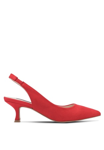ZALORA red Pointed Toe Slingback Heels C3792ZZ18D71F8GS_1