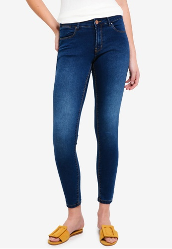 Dorothy Perkins navy R:Rich Blue Mid Rise Bailey Jeans 20416AA71A0278GS_1