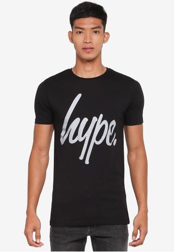 Just Hype black Script T-Shirt 1CE00AA9909F28GS_1