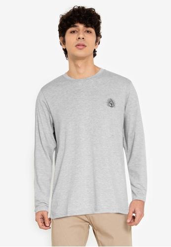 ZALORA BASICS grey Enlighten Long Sleeve Tee 43121AA31C5FB4GS_1