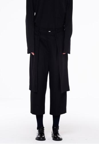 羊毛多層寬zalora 包包 ptt鬆褲, 服飾, 長褲及內搭褲
