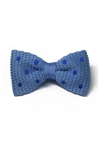 Splice Cufflinks blue Webbed Series Blue Polka Dots Sky Blue Knitted Bow Tie SP744AC75UBWSG_1
