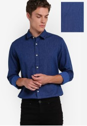 Selected Homme blue Regular Fit Shirt SE364AA65LZEMY_1