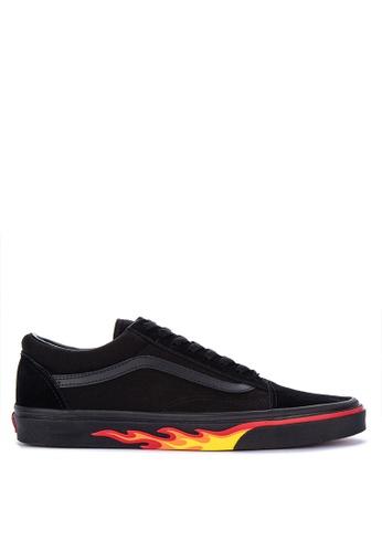 VANS black Flame Wall Old Skool Sneakers E222DSHCB3FB51GS_1