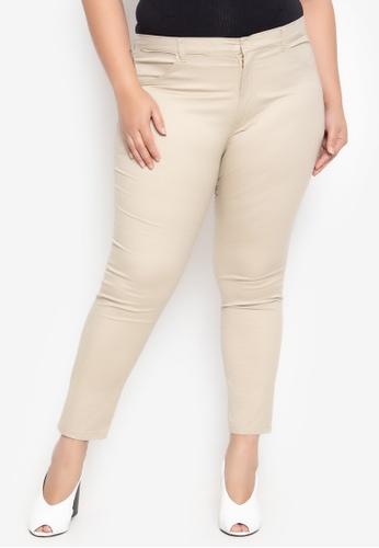 27ed60ad080 Shop Maxine Plus Size Pants Skinny Stretch Twill Online on ZALORA ...