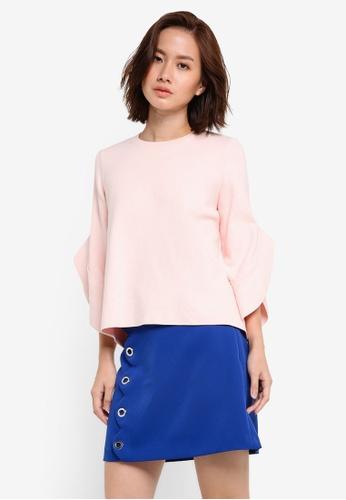 Mango pink Flared Sleeves Sweater MA193AA0RGU7MY_1