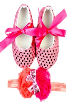 Baby Shoes and Headband in Set