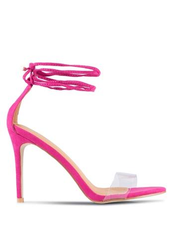 Public Desire pink Leo Lace Up Heels PU378SH0SSIKMY_1