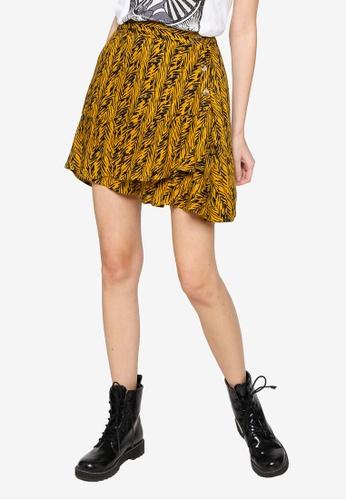 Noisy May yellow Beagle Mini Skirt 0EE28AAA1F223BGS_1