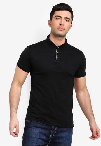 Brave Soul black Julius Polo Shirt 5A4DAAA5BFB8AEGS_1