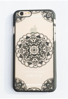 Center Mandala Hard Transparent Case for iPhone 6/6s