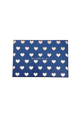 Klosh Gift Box - Blue With Golden Heart 7B156HLB3D7D1EGS_1