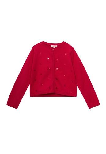 Du Pareil Au Même (DPAM) red Casual Cardigan DA274KAA851CF5GS_1