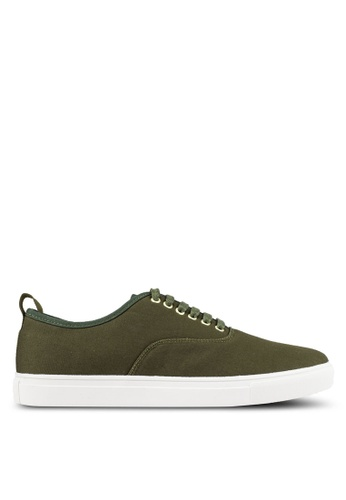 JAXON green Classic Canvas Sneakers 04E4FSH0FBA4A3GS_1