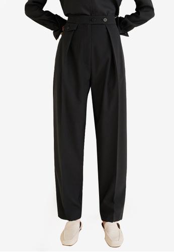 Mango black Pleated Suit Trousers 20CCCAA4608191GS_1