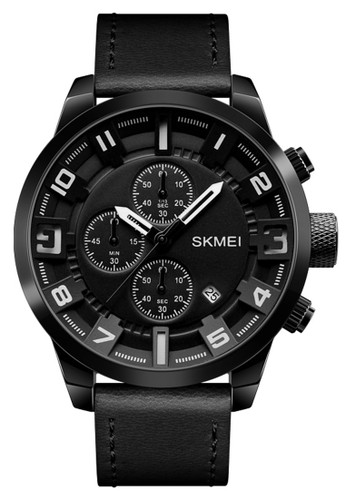 Digitec black Skmei - Jam Tangan Pria - Black - Leather Strap - 1309-A 7BE86AC29EB4FFGS_1