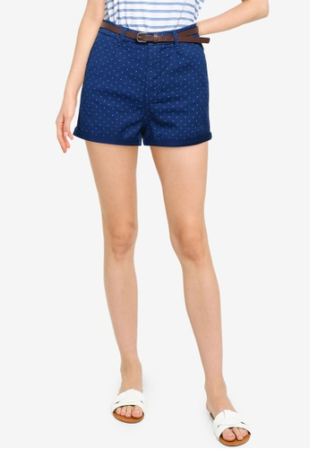 Springfield blue Belted Chino Shorts 91961AA9DBAA5FGS_1